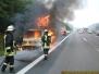 Brand eines Kleintransporters auf der BAB